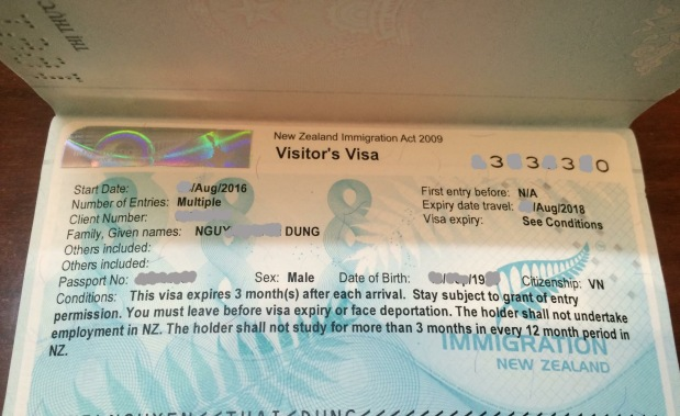 Kinh nghiệm xin Visa NewZealand